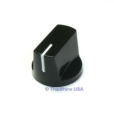 2 x Davies 1510 Clone Black Knob - USA Seller - Free Shipping