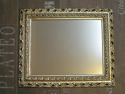 Wall Mirror 43x36 Baroque Rectangular Antique Silver Picture Frame Arabesco 2