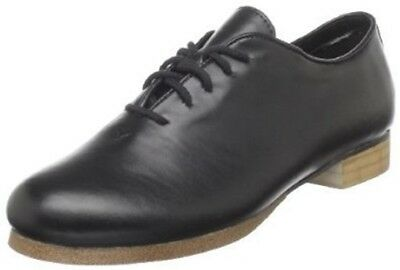 Trimfoot Black Full Sole Faux Leather Clogging Oxford Shoe Steven Stompers Taps