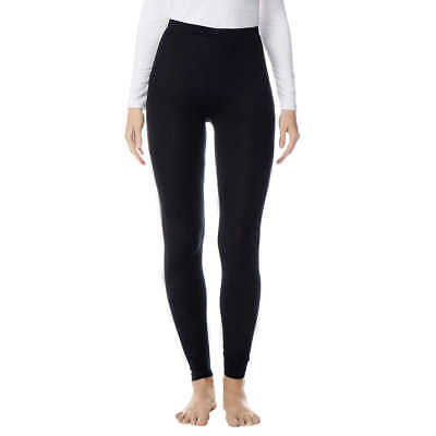 32 Degrees Heat Womens Base Layer Pants Super Thin Soft Stretchy Black Leggings