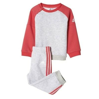 Adidas Baby Infant Kids Girls Toddler Tracksuit Set Play Gym Cotton/Poly Bp5290