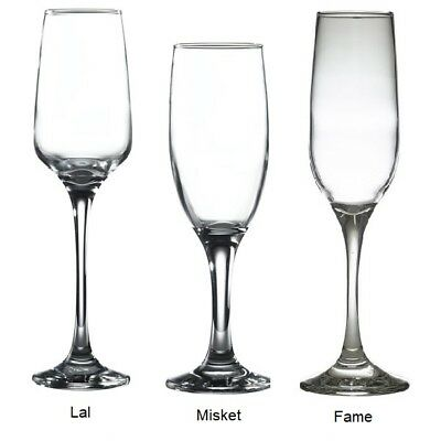 Champagne Flutes Glasses, Discounted New Catering Quality Glassware