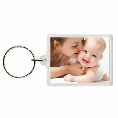 Personalised Custom Photo Gift Keyring - Birthday Children Family Pets - 2 Sided