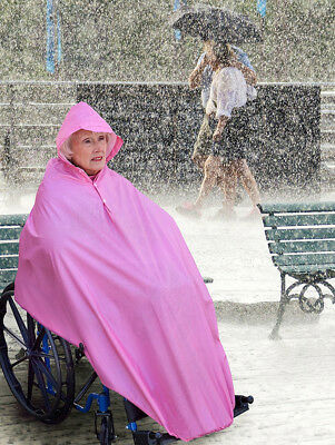 AdirMed Wheelchair Waterproof Poncho With Hood - Rain Protection Cape Water &