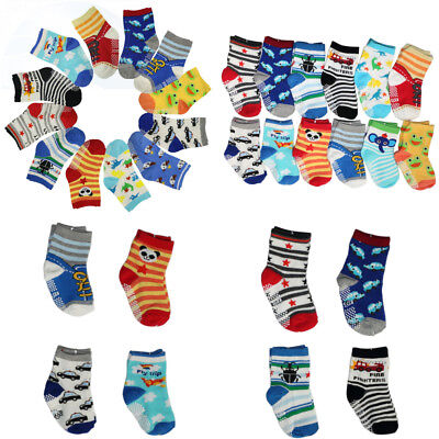 12 Pairs Toddler Socks Non Skid Anti Slip Knit Ankle Cotton Grip for 12-36...
