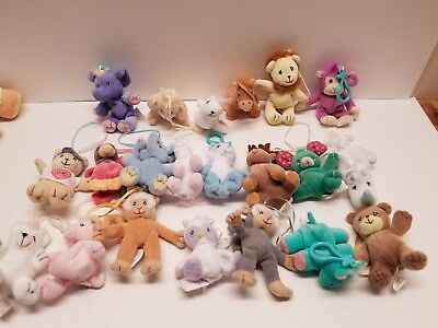 Large lot Precious Moments Tender Tails Beanie Enesco plush ornament keychains