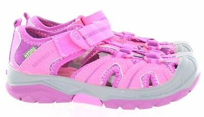Merrell Hydro Water Sandal Hook And Loop Pink Little Kid Size 12 Wide