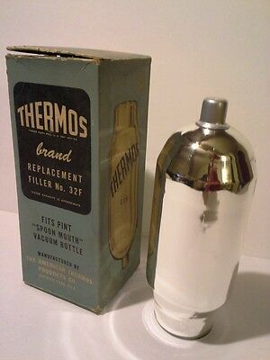 Vintage Geniune Thermos Stronglas Replacement Filler #32F Pint Size Spoon Mouth