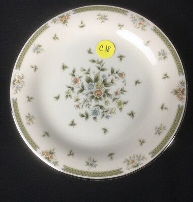 American Royalty Spring Gardens Porcelain Round Lunch 1 Salad Plate