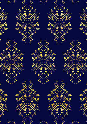 Stencil Floral Damask Pattern French Vintage Shabby Chic Furniture Wall Art DA29