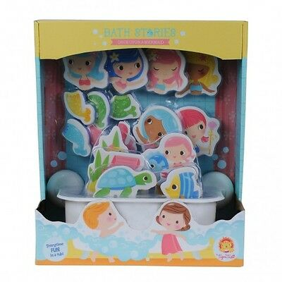 Tiger Tribe Bath Stories Once Upon a Mermaid - Baby Kids Bath Water Play Puzzle
