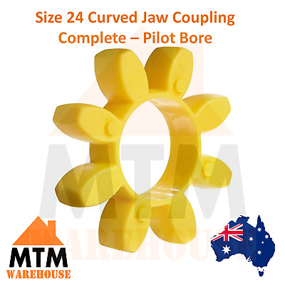 Size 24 Curved Jaw Coupling Complete - Pilot Bore