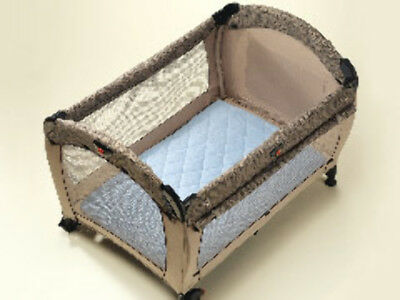 Playette Quilted Travel Cot Padded Sheet - Blue