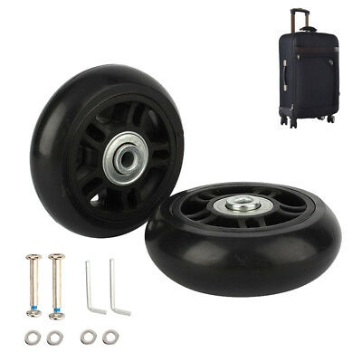 1Pair Replacement Luggage Suitcase Wheels Swivel Universal Wheel For Any Bags ZH