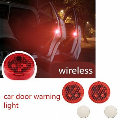 2X Universal Car Door LED Opened Warning Wireless Anti-collid Flash Lights Kits