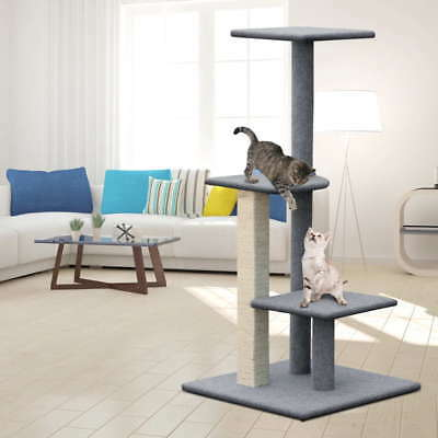 124CM Tall Cat Scratching Post Tree 4 Levels Gym House Condo Furniture Scratcher