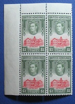1938 BRITISH HONDURAS $1 Scott # 124 S.G.# 159 UNUSED NH                 CS03519