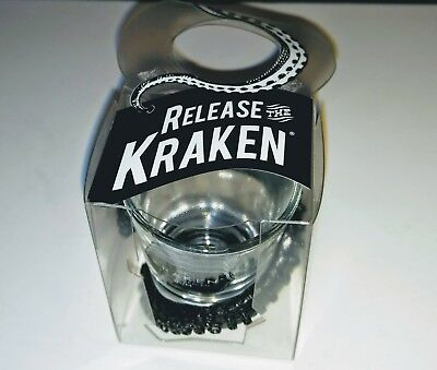 The Kraken Spiced Rum Shot Glass with Octopus Tentacle wrapped around glass-NEW