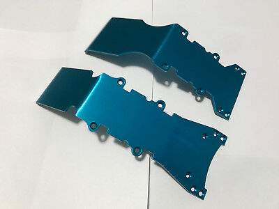 Aluminum S-Link Front and Rear Skid Plates for Traxxas Emaxx Tmaxx 2.5/3.3 B