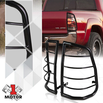 Black Stainless Steel Tail Light/Lamp Guard Protector for 05-15 Toyota Tacoma