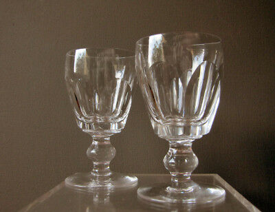 A pair of Waterford port wine glasses in Georgian style - discontinued Kathleen