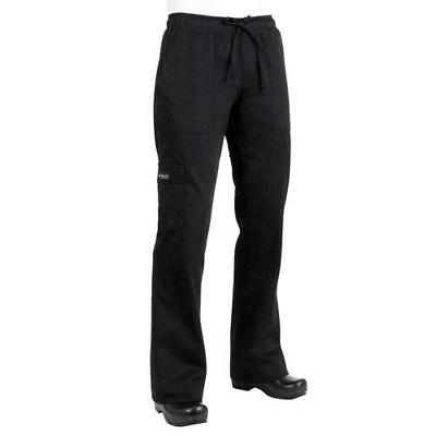 Chef Works - CPWO-BLK-XL - Women's Black Cargo Chef Pants (XL)