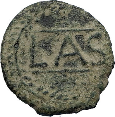 LASTIGI in IBERIA Spain Ancient 150BC Rare Authentic Greek Quadrans Coin i66743
