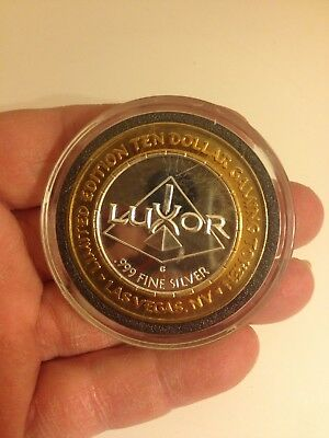 .999 Silver Luxor Casino $10 Silver Strike A Tribute To America's Heroes 5 OF 5