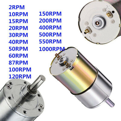 DC 12V 2 - 1000RPM High Torque Electric Gear Box Motor Speed Reduction Durable