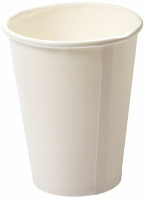 50 White Disposable Eco Friendly Hot Coffee Cups, 12-Ounces, Single-Wall