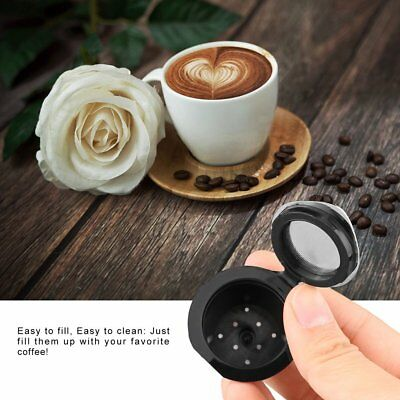 Reusable Nespresso Stainless Steel Filters Refillable Coffee Capsules Pod Cup