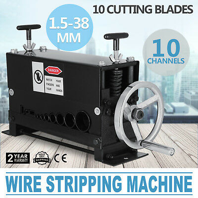 Cable Wire Stripping Machine 38 mm Stripper Scrap Copper Aluminium 10 Channels