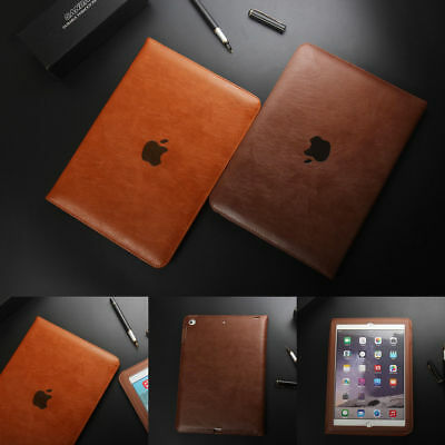 Genuine Leather Flip Cover Smart Case For iPad 234 Mini 4 Pro 10.5 12.9""
