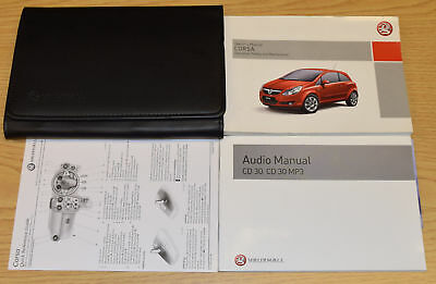 Genuine Vauxhall Corsa D Owners Manual Handbook Audio Guide 2006-2011 Wallet