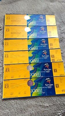 Olympic Games Tickets. Hockey Athletics Baseball. Six tickets for 23 Sept 2000