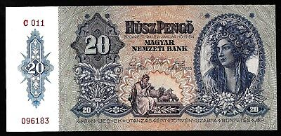 20 Pengő From Hungary 1941 Unc