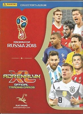 FIFA WORLD CUP RUSSIA 2018 ADRENALYN XL Complete Set Of Cards In A Binder +5LTD