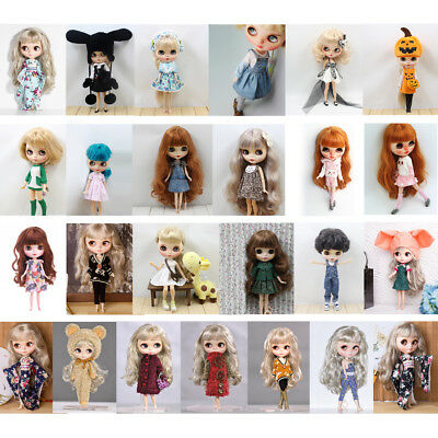 25 Patterns Cute Doll Dress Clothing Outfit for 12'' Blythe Azone Doll Accessory