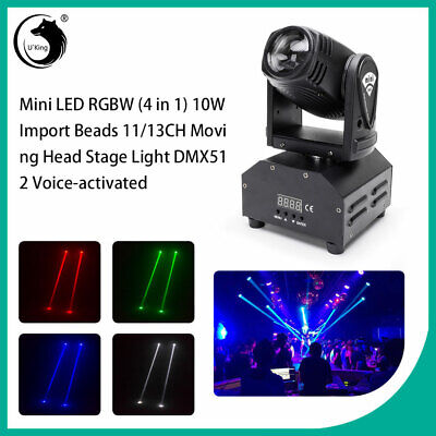 60W LED Mini Moving Head Beam Lights DMX512 Stage Lighting Party DJ Effect Light