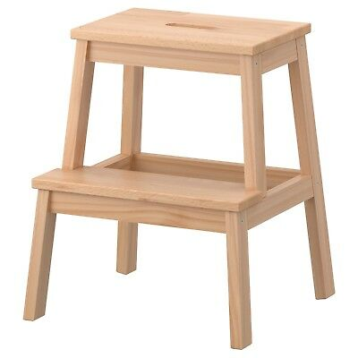 Stool Step Wooden Wood Kitchen Heavy Duty Bed 2 Foot Bedside X New Ladder Home