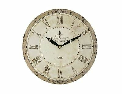 Large Slim French Wall Clock For Living Room Bedroom Antique Style Decor 28Cm