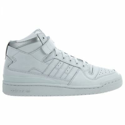 buy popular 43739 9faa2 ... shop adidas forum mid refined mens f37831 white silver leather strap  shoes size 12 2d9bf 83f34 ...