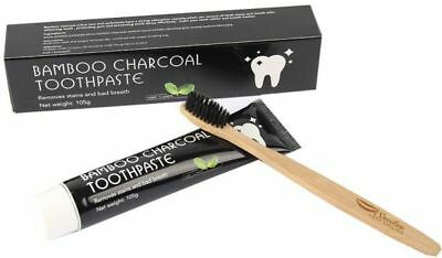 Active Bamboo Charcoal Black Toothpaste Natural Fresh Polish Teeth Whitening Uk