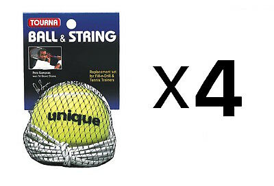 Tourna Ball-String Replacement-Fill N Drill Trainer-Sampras Trainer (4-Pack)