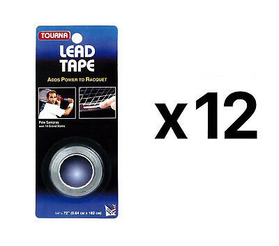 "Tourna Lead Tape Tennis Racquet Racket Tape Golf Club 1/4"" X 72"" (12-Pack)"