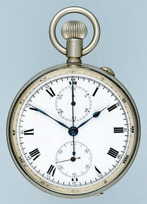 Swiss Flyback Chronograph Pocket Watch