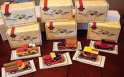 6 Matchbox Collectable Vintage Coca-Cola die-cast trucks YPC01-M thru YPC06-M