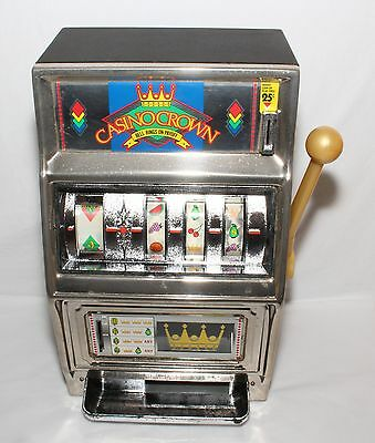 WACO Casino Crown Slot Machine Coin Bank with Bell Sounds