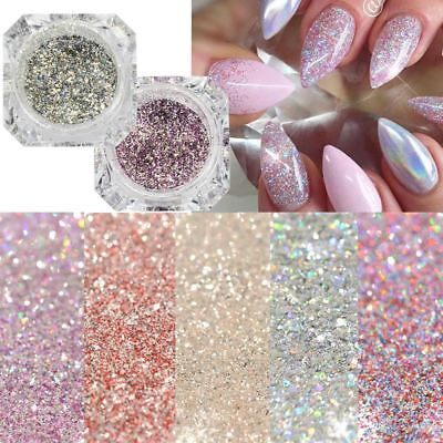 1Box Platinum Shiny Nail Glitter Powder Sparkly Diamond Manicure Nail Art