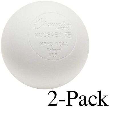 Champion Lacrosse Ball NFHS NCAA Mobility Massage Therapy-WHITE (2-Pack)
